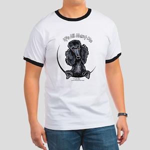 Black Standard Poodle IAAM Ringer T