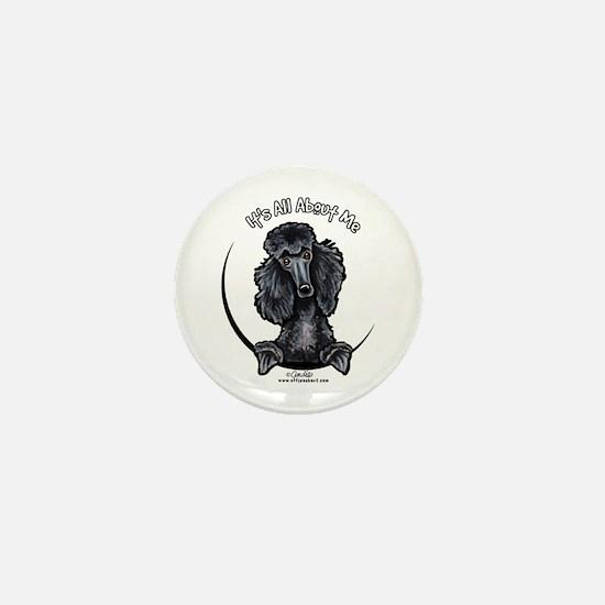 Black Standard Poodle IAAM Mini Button