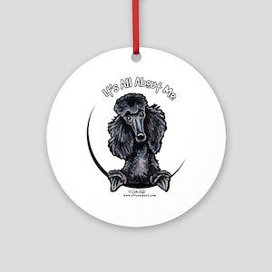 Black Standard Poodle IAAM Ornament (Round)