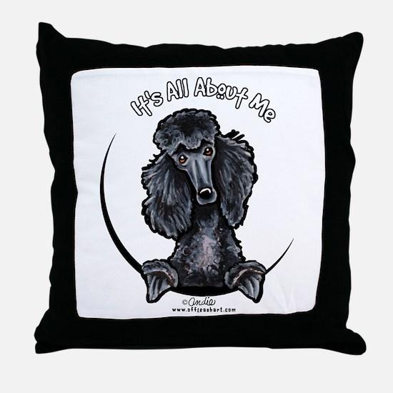 Black Standard Poodle IAAM Throw Pillow