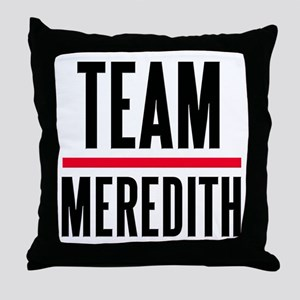 Team Meredith Grey's Anatomy Throw Pillow
