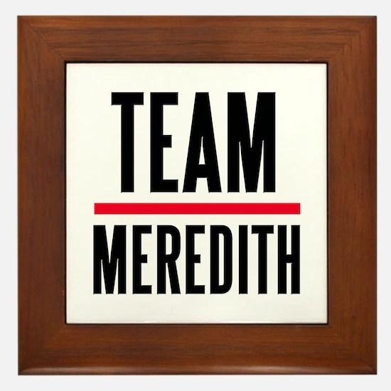 Team Meredith Grey's Anatomy Framed Tile