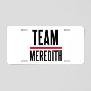 Team Meredith Grey's Anatomy Aluminum License Plat