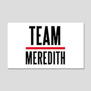 Team Meredith Grey's Anatomy 22x14 Wall Peel