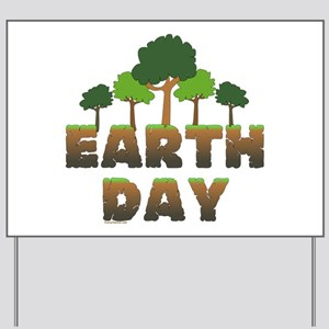 Earth Day Trees Yard Sign
