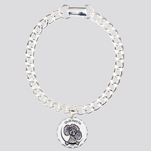 Gray Poodle IAAM Charm Bracelet, One Charm