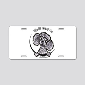 Gray Poodle IAAM Aluminum License Plate