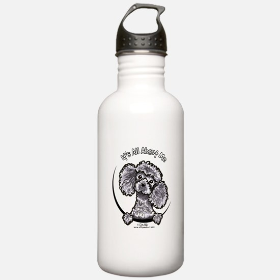 Gray Poodle IAAM Water Bottle