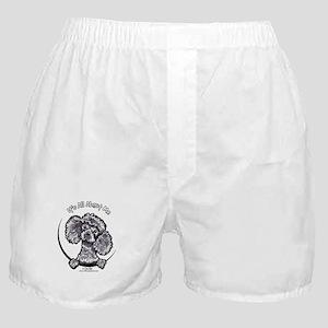 Gray Poodle IAAM Boxer Shorts