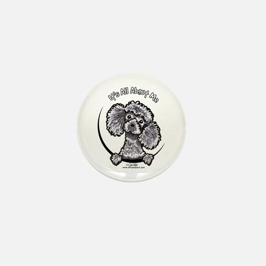 Gray Poodle IAAM Mini Button