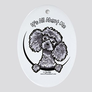 Gray Poodle IAAM Ornament (Oval)