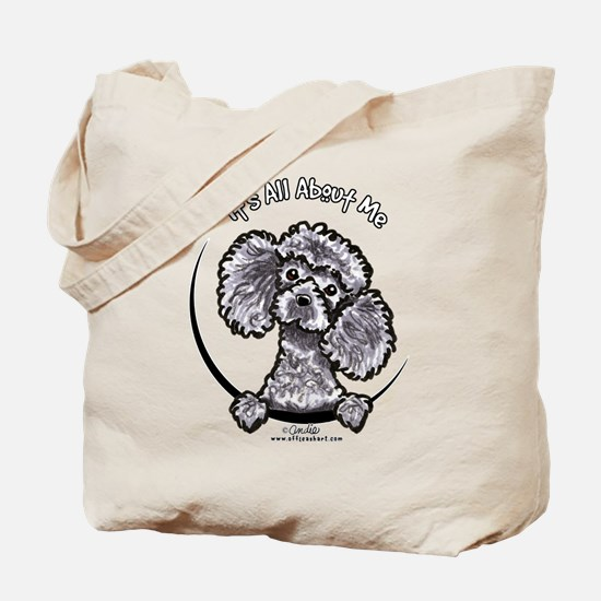 Gray Poodle IAAM Tote Bag