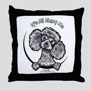 Gray Poodle IAAM Throw Pillow