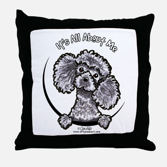 Gray Poodle IAAM Throw Pillow