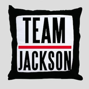 Team Jackson Throw Pillow