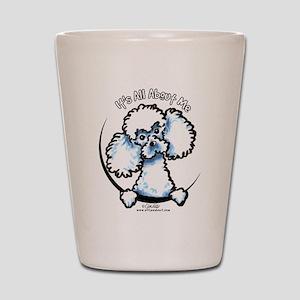White Poodle IAAM Shot Glass