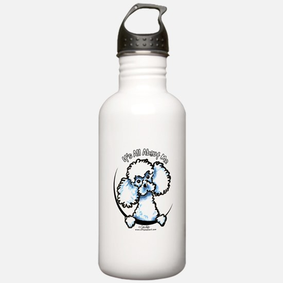 White Poodle IAAM Water Bottle