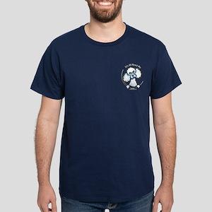 White Poodle IAAM Pocket Dark T-Shirt