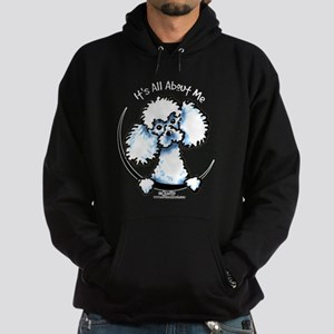White Poodle IAAM Hoodie (dark)