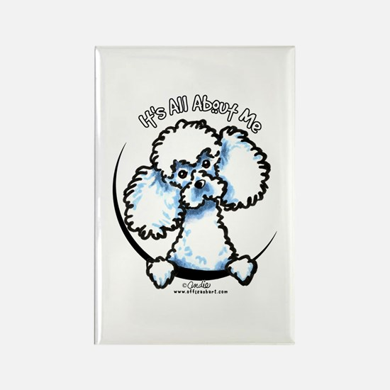 White Poodle IAAM Rectangle Magnet
