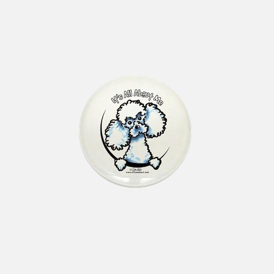 White Poodle IAAM Mini Button