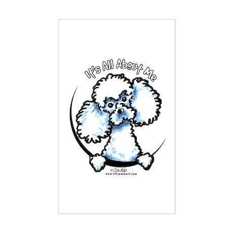 White Poodle IAAM Sticker (Rectangle)