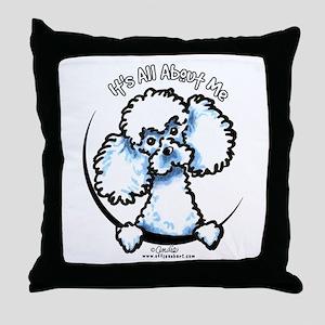 White Poodle IAAM Throw Pillow