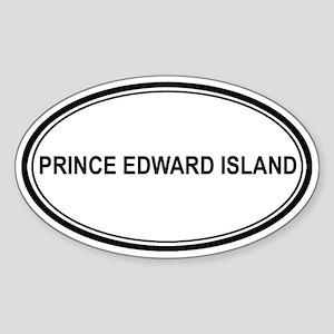 Prince Edward Island Euro Oval Sticker