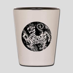 vintage japanese tiger Shot Glass