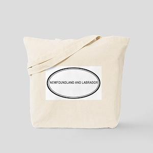 Newfoundland And Labrador Eur Tote Bag