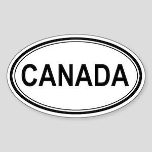 Canada Euro Oval Sticker