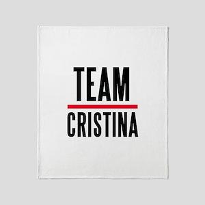 Team Christina Throw Blanket