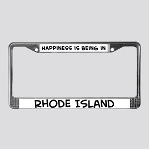 Happiness is Rhode Island License Plate Frame