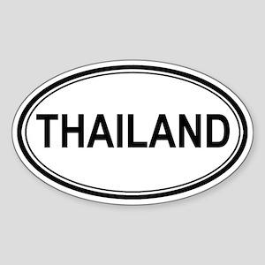 Thailand Euro Oval Sticker