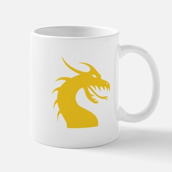 Yellow Dragon Head Mug