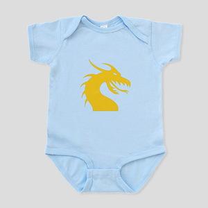 Yellow Dragon Head Infant Bodysuit