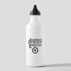 Stubborn Norwegian Lutheran Stainless Water Bottle