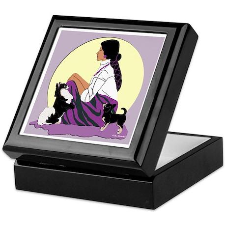 Chihuahuas Lady Moon in Purple Keepsake Box