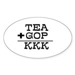 TEA + GOP = KKK Sticker