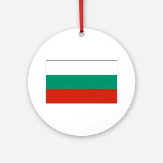 Bulgarian Flag Ornament (Round)