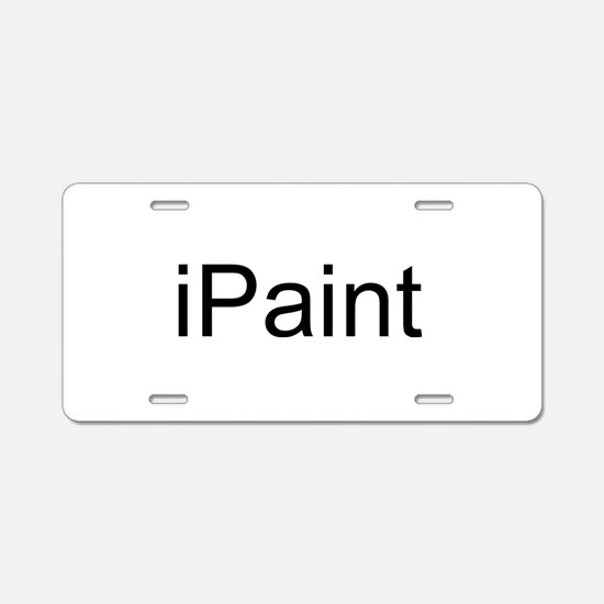 iPaint Aluminum License Plate