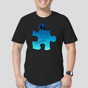 Autism Go Blue Men's Fitted T-Shirt (dark)