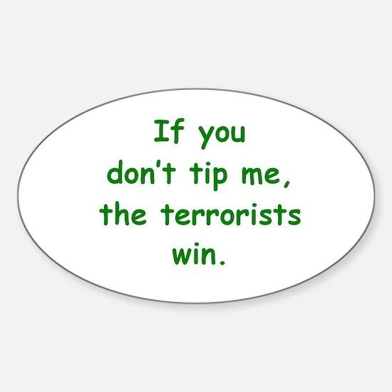 Tip Me Sticker (Oval)