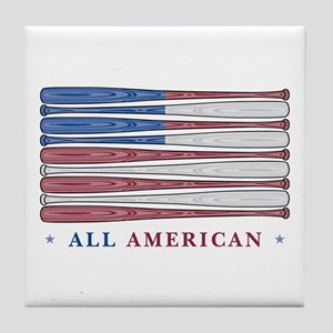 Baseball Flag Tile Coaster