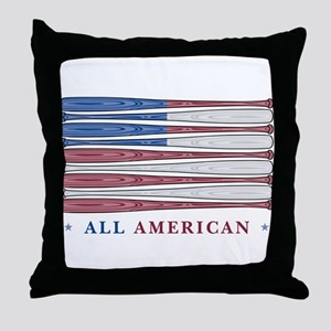 Baseball Flag Throw Pillow
