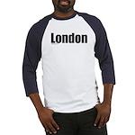 London-BlackType Baseball Jersey