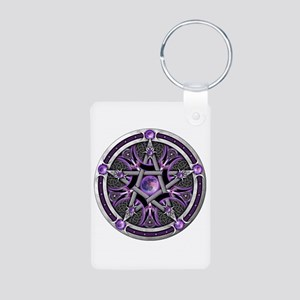 Pentacle of the Purple Moon Aluminum Photo Keychai