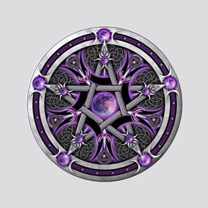 """Pentacle of the Purple Moon 3.5"""" Button"""