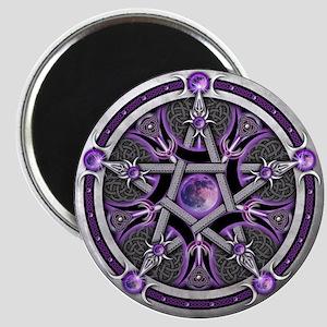 Pentacle of the Purple Moon Magnet