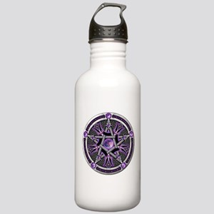 Pentacle of the Purple Moon Stainless Water Bottle